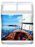 Summer Sailing Duvet Cover