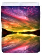 Summer Skies At Skaha Duvet Cover
