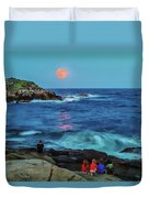 Summer Solstice Strawberry Moon Duvet Cover