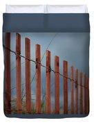Summer Storm Beach Fence Duvet Cover