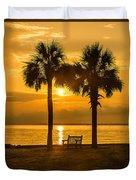 Summer Sunrise - Charleston Sc Duvet Cover
