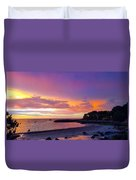 Summer Sunset After The Storm Duvet Cover