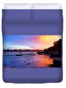 Summer Sunset At Low Tide Duvet Cover