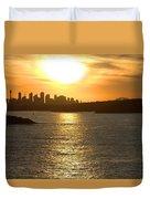 Summer Sunset In Sydney Duvet Cover