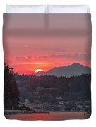 Summer Sunset Over Yukon Harbor.4 Duvet Cover