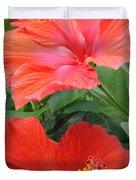 Summer Time Beauties - Hibiscus - Dora Sofia Caputo Duvet Cover