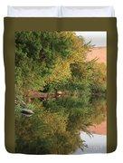 Summer Trees Sunset Duvet Cover