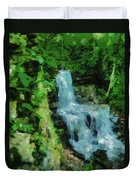 Summer Waterfall In West Milton Duvet Cover