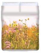 Summer Wildflower Field Of Sunflowers Duvet Cover