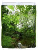 Summer Woodland And The Patapsco River Maryland Duvet Cover