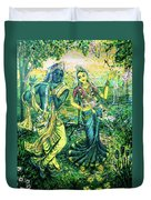 Summer's Joyous Meeting Duvet Cover