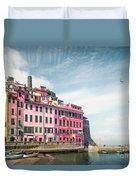 Summertime Town Duvet Cover