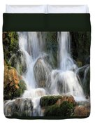 Summit Creek Waterfalls Duvet Cover