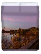 Summit Lake Magic Hour  Duvet Cover
