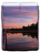 Summit Lake Reflected Sunset   Duvet Cover