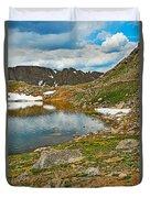 Summit Lake Study 5 Duvet Cover