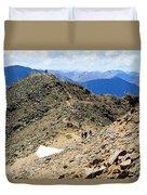 Summit On Mount Massive Summit Duvet Cover