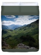 Summit View To Scaffell Duvet Cover
