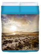 Sun Above Lake Argentino Duvet Cover