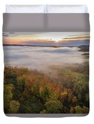 Sun And Fog Duvet Cover