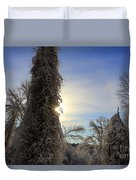 Sun And Snow  Duvet Cover