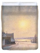 Sun And Snow Duvet Cover by Per Ekstrom