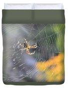 Spider On Web Duvet Cover