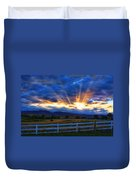 Sun Beams In The Sky At Sunset Duvet Cover by James BO  Insogna