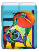 Sun Bird Duvet Cover
