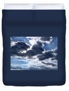 Sun Breaking Through The Clouds Duvet Cover by Mariola Bitner