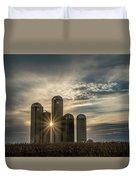 Sun Burst Silos Duvet Cover