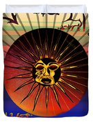 Sun Face Stylized Duvet Cover by Robert  G Kernodle