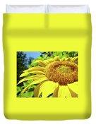 Sun Flower Art Sunlit Sunflower Giclee Prints Baslee Troutman Duvet Cover