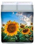 Sun Flower Glow Duvet Cover