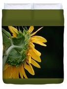 Sun Flower On Black Duvet Cover