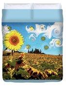 Sun Flowers Field Duvet Cover