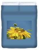 Sun Flowers Summer Sunny Day 8 Blue Skies Giclee Art Prints Baslee Troutman Duvet Cover