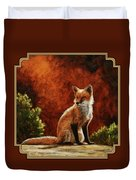 Sun Fox Duvet Cover