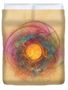 Sun Fractal Abstract Art Duvet Cover
