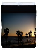 Sun Going Down In California Duvet Cover