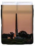 Sun Hitting The United States Regular Monument Duvet Cover