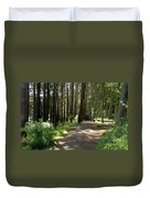 Sun In The Forest. Duvet Cover