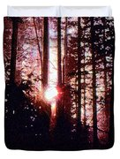 Sun In The Forest Two  Duvet Cover