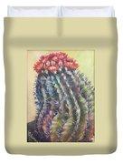 Sun Kissed Barrel Cactus Duvet Cover
