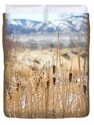 Sun Kissed Cattails - Casper Wyoming Duvet Cover