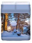 Sun-kissed. Saxon Switzerland Duvet Cover