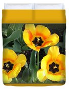 Tulips Kissed By The Sun Duvet Cover
