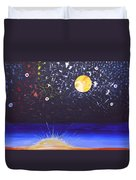 Sun Moon And Stars Duvet Cover by Donna Blossom