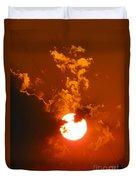 Sun On Fire Duvet Cover