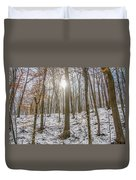 Sun Peaking Through The Trees - Fairmount Park Duvet Cover